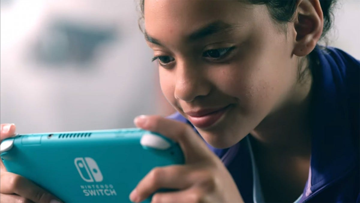 """I have to play the Switch Lite six inches away from my face so I can see what the hell is going on! Super fun!"""