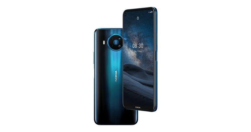 Nokia 8.3 5G on the front and back