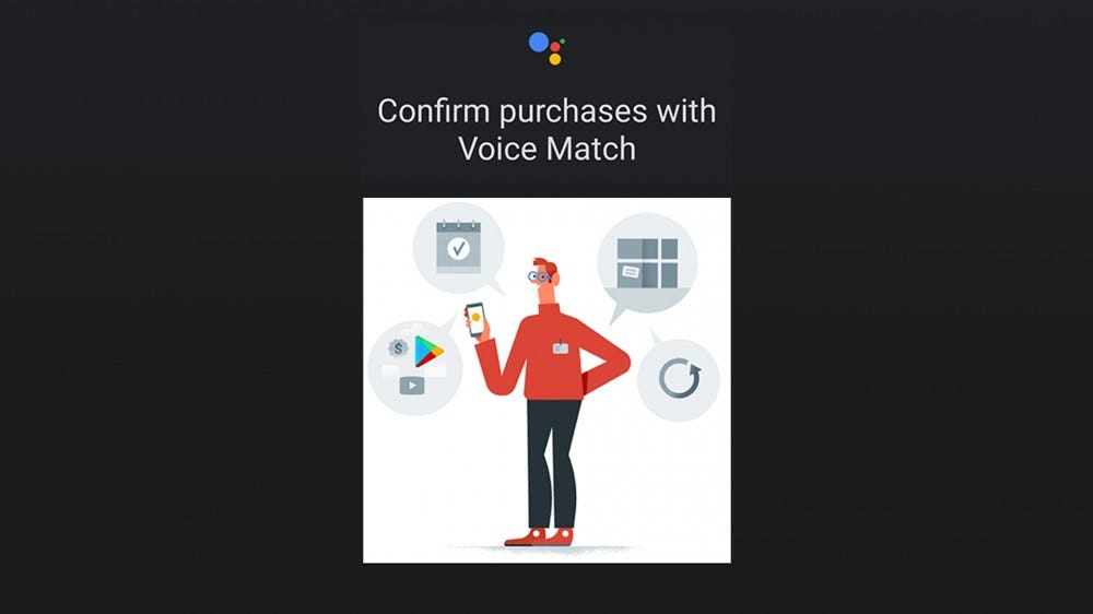 An illustration of the Google Voice Match setting screen.