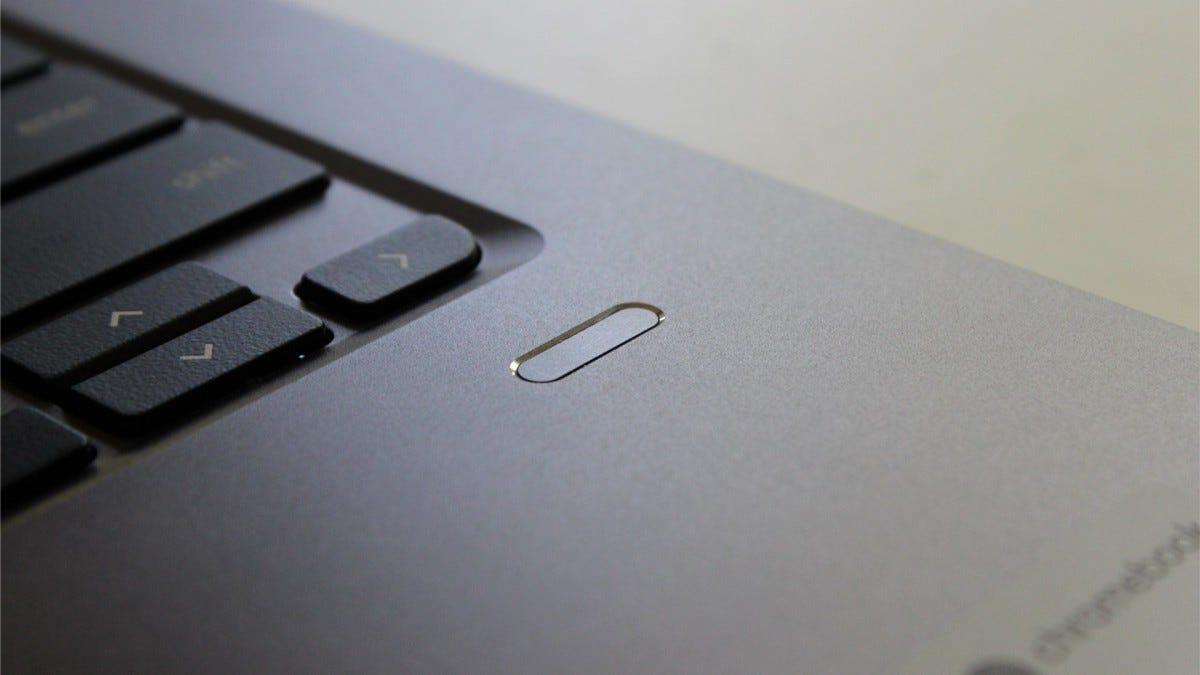 The 714's fingerprint reader