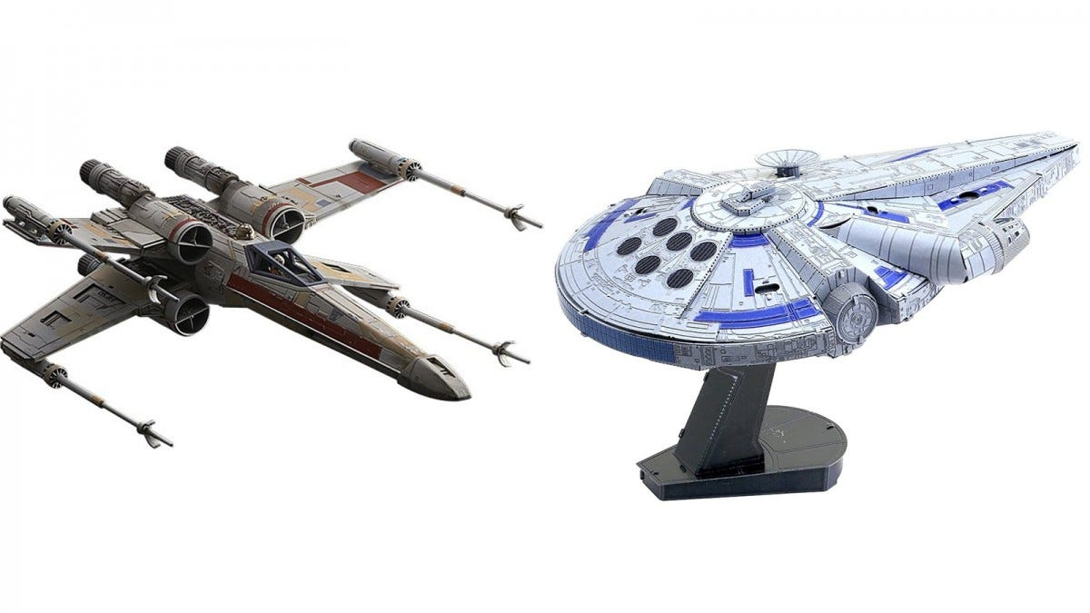 Bandai Hobby X-Wing and Fascinations Millenium Falcon