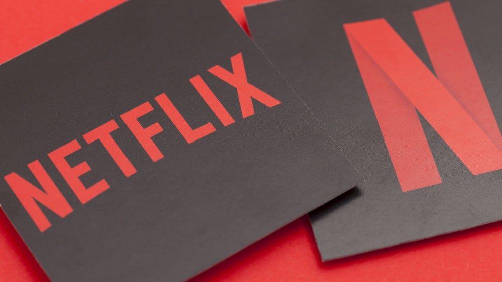 Photos of the Netflix logo.