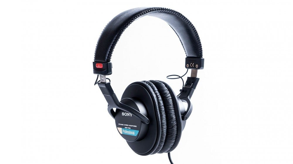 A photo of Sony's MDR7506 headphones.