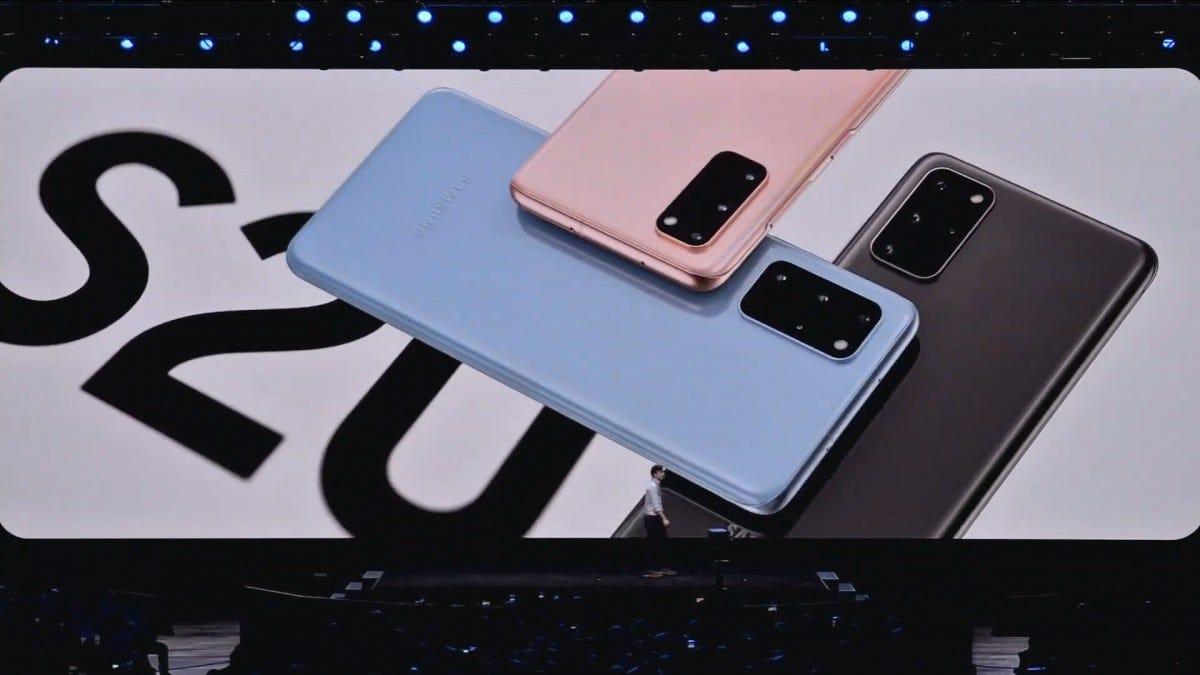 The Galaxy S20 presentation.