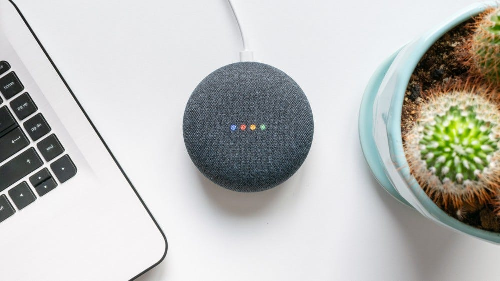 Google Home mini smart speaker with built-in Google Assistant
