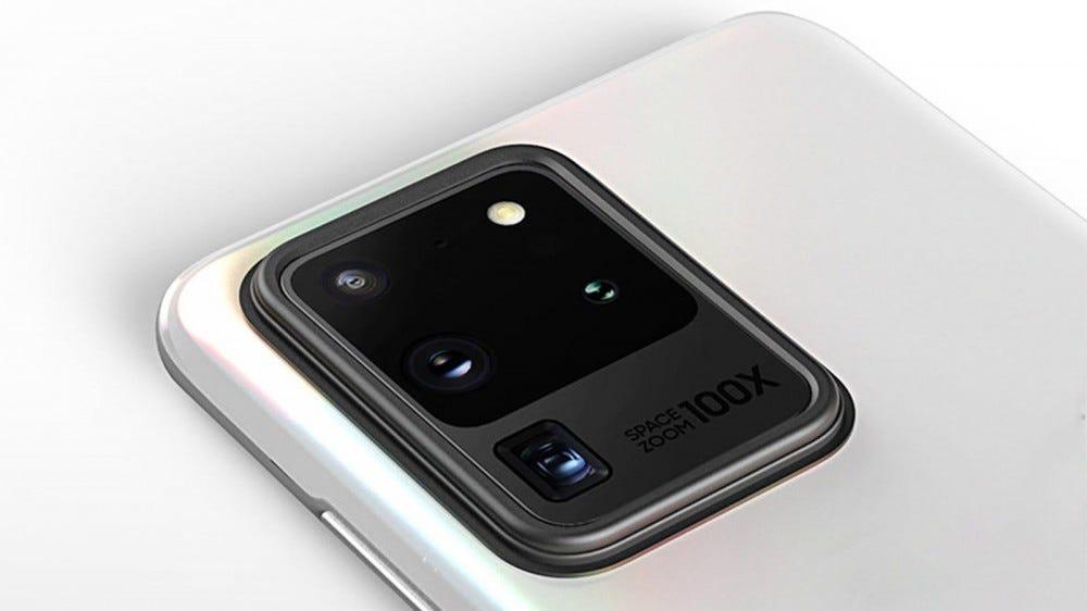 A bumper case on top of a Samsung smartphone camera lens.