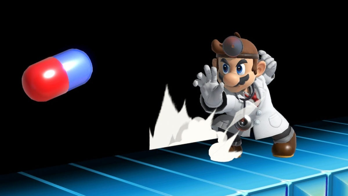 Dr. Mario in Smash Bros. Ultimate.
