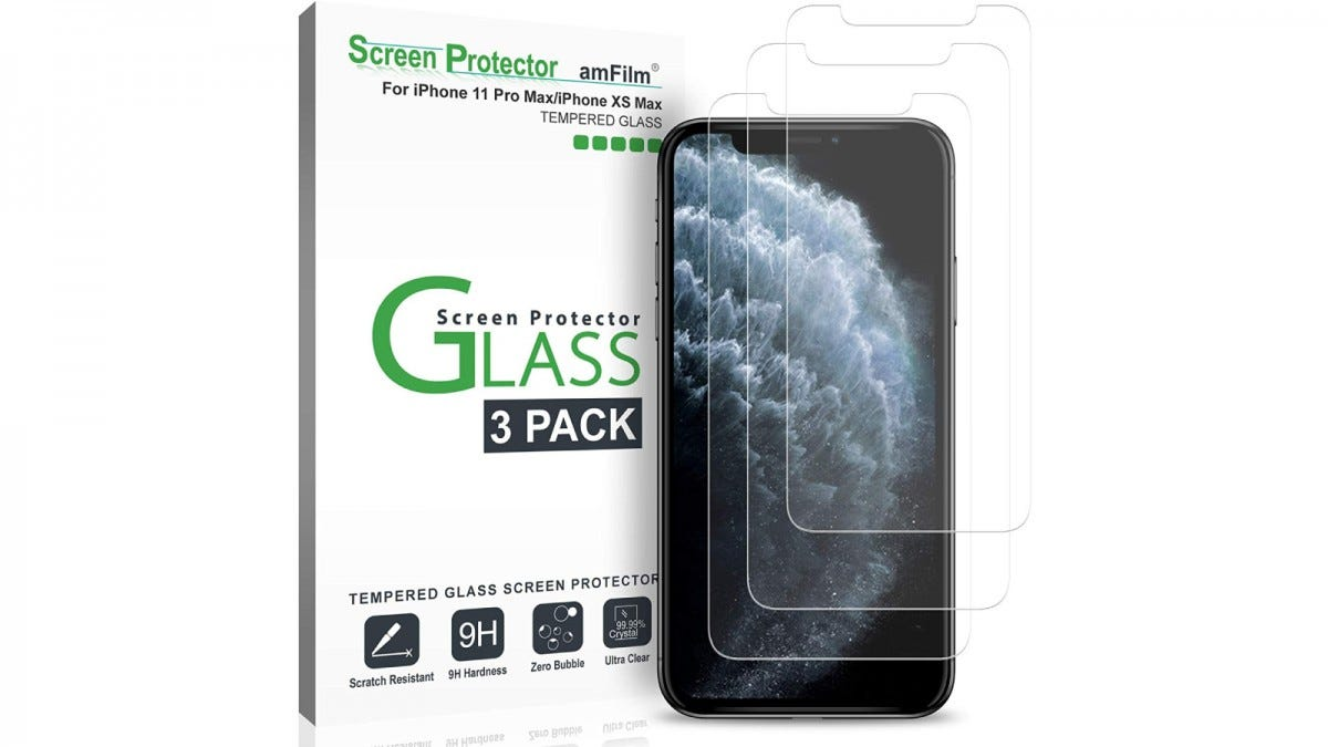 amFilms Glass Screen Protectors for iPhone 11, 11 Pro, and 11 Pro Max
