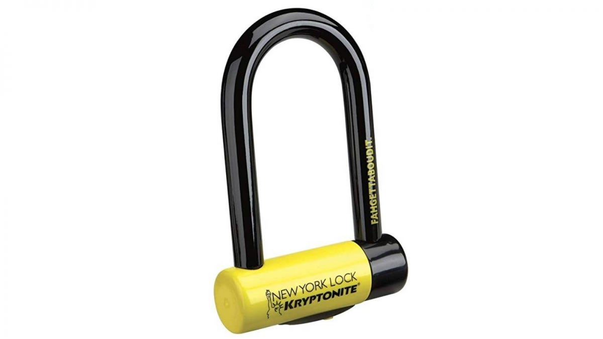 The Kryptonite New York Lock Fahgettaboutit Mini 18mm U-Lock Bicycle Lock.
