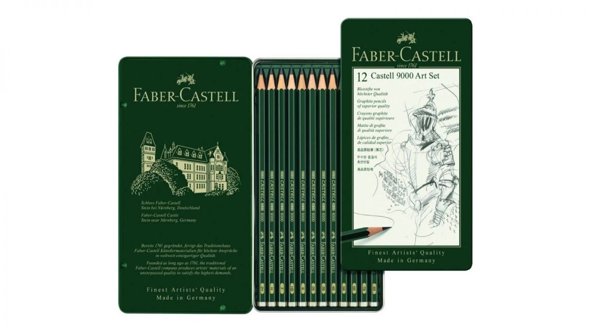 Faber-Castell 9000 Graphite Sketch Pencil Sets