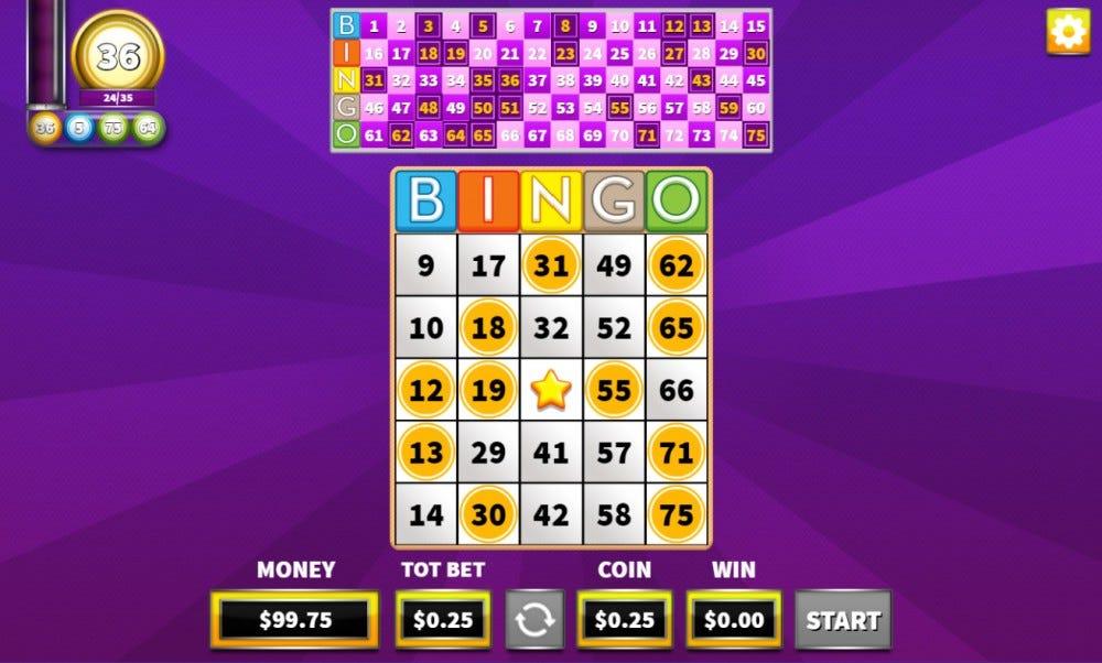 Arkadium online bingo game website