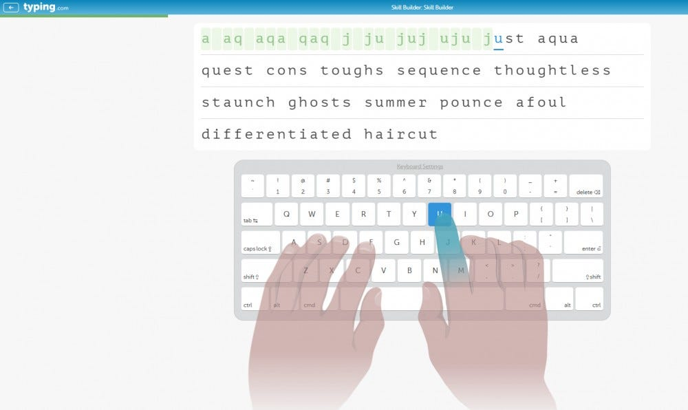 Typing.com learn to type lessons typing games track typing speed and accuracy