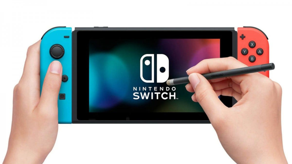 Using the official Nintendo stylus on the Nintendo Switch
