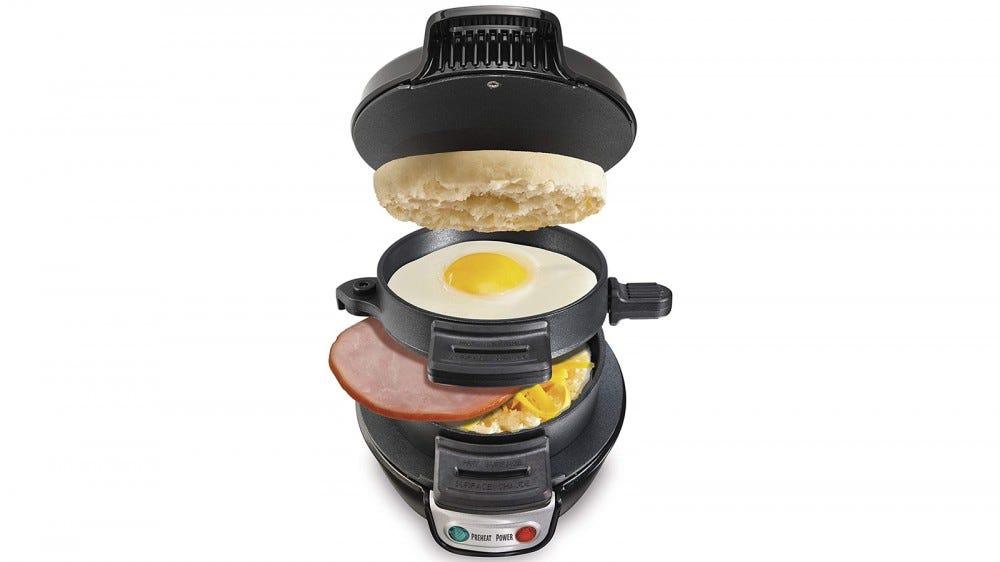 Hamilton Beach Breakfast Sandwich Maker single sandwich all-in-one sandwich maker bread eggs meat cheese nonstick