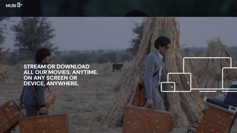 Mubi daily film subscription with new movies each day