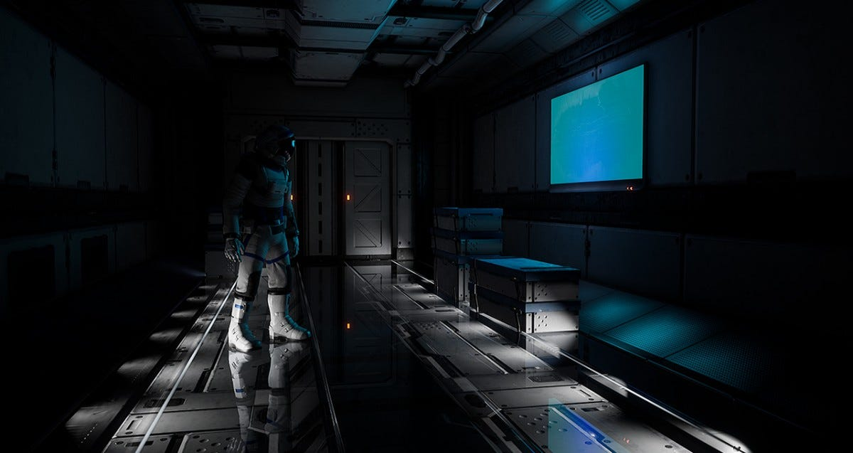 A game screenshot with RTX lighting enabled.