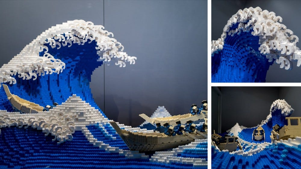 """Jumpei Mitsuit's LEGO replica of Hokusai's """"The Great Wave off Kanagawa"""""""