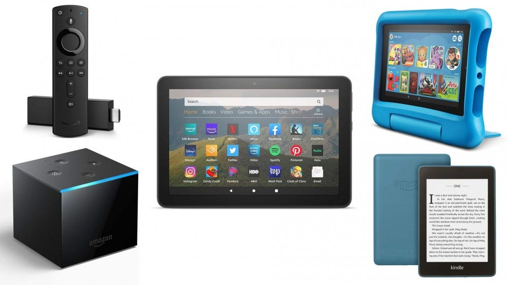 Amazon Fire TV, Fire HD, and Kindle