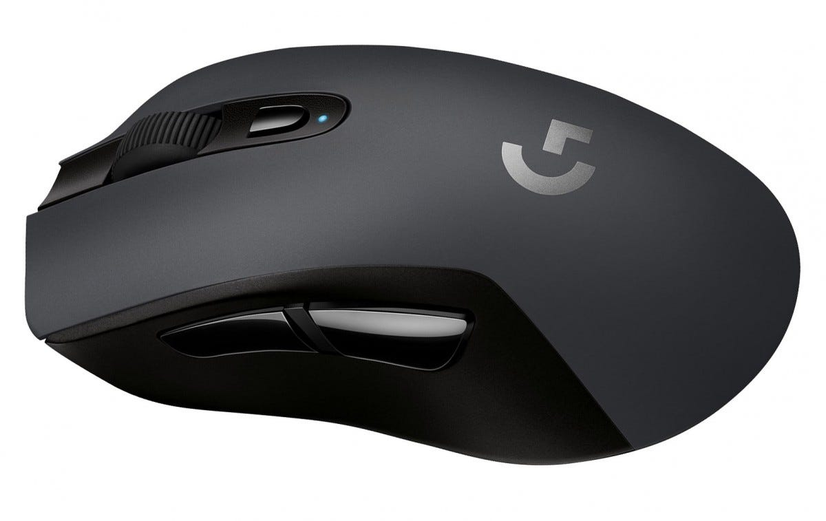 The Logitech G603 mouse from the side.