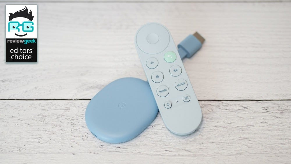 Chromecast with Google TV and remote control