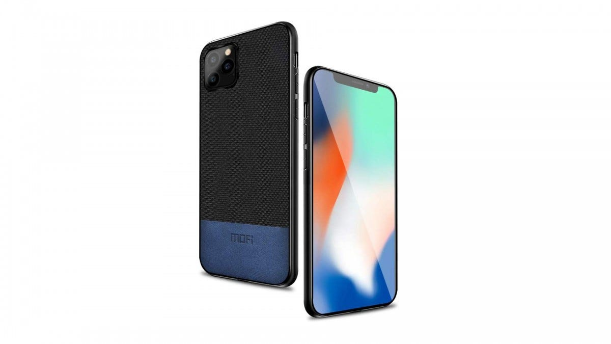 The Mofi soft fabric case on an iPhone 11 Pro.