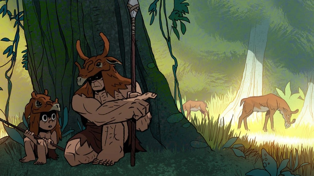 Adult Swim Primal: Spear and son