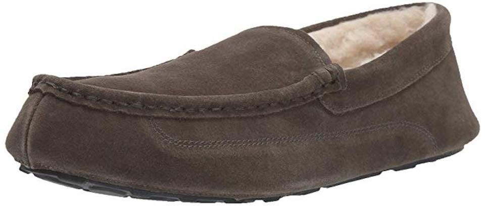 6eceb18e906 The Amazon Essentials Men s Leather Moccasin Slippers live up to their name  — they are essential. Available in a choice of 4 colors