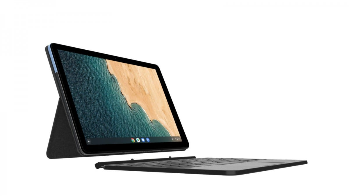 Lenovo IdeaPad Duet Chromebook from the side
