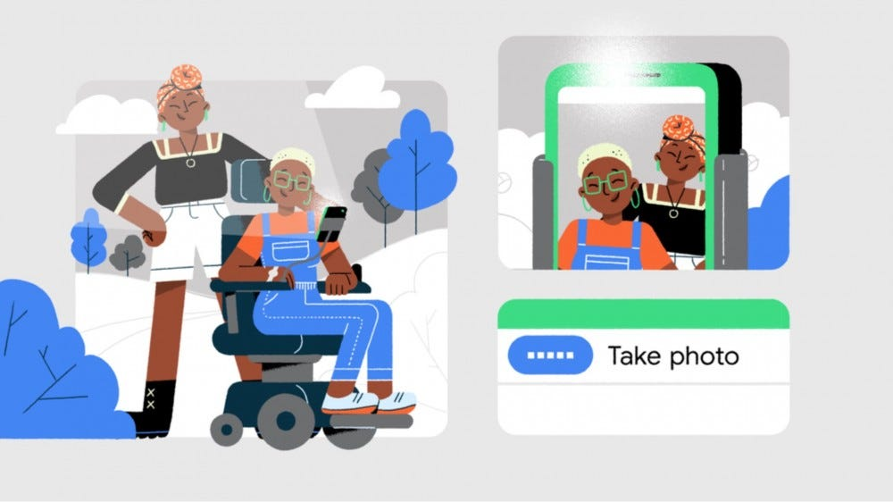 Generic collage of users using Google Access app