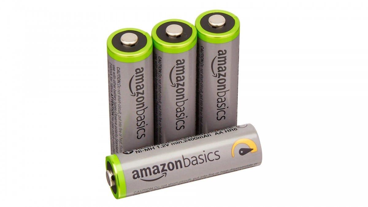 AmazonBasics rechargable AA batteries