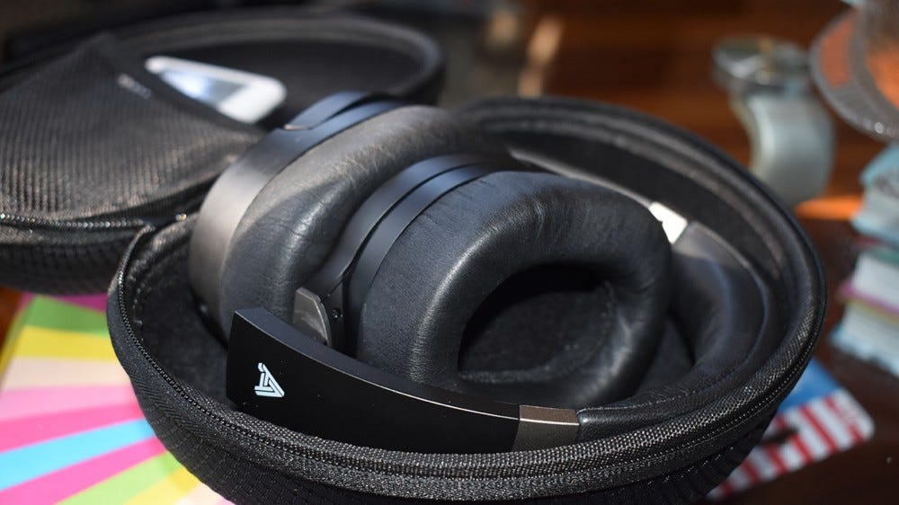 The Audeze LCD-1's in their carrying case.