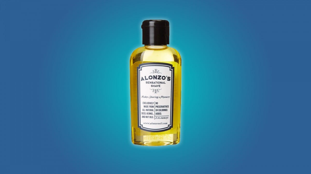 Alonzo's Sensational Shave Premium Natural 2 oz Aftershave