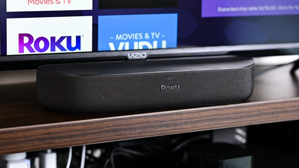 Roku Streambar Connected to TV