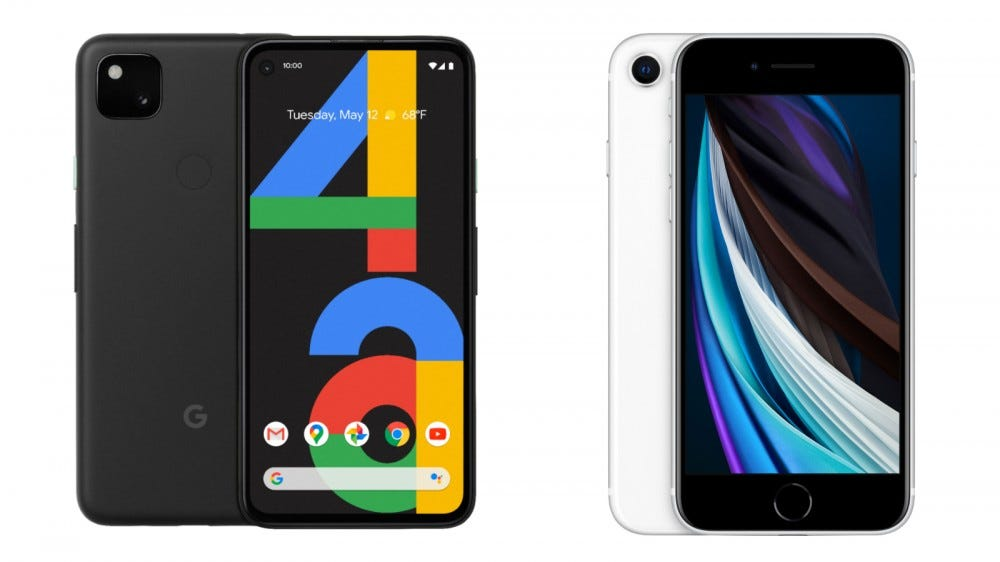 Pixel 4a and iPhone SE Hardware