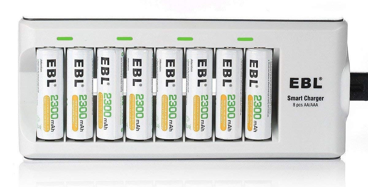battery charger, aa, rechargable battery, batteries,