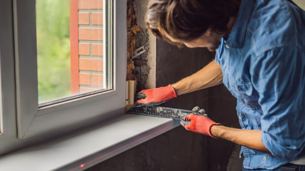 General repairs around the house window installation remodeling