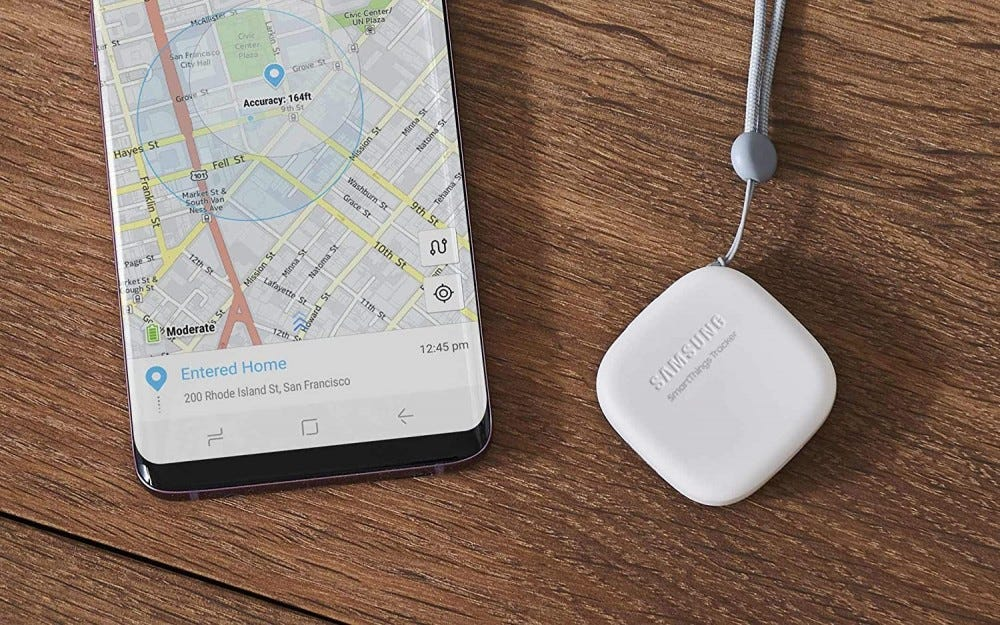 Tracker and phone from Samsung Smartthings