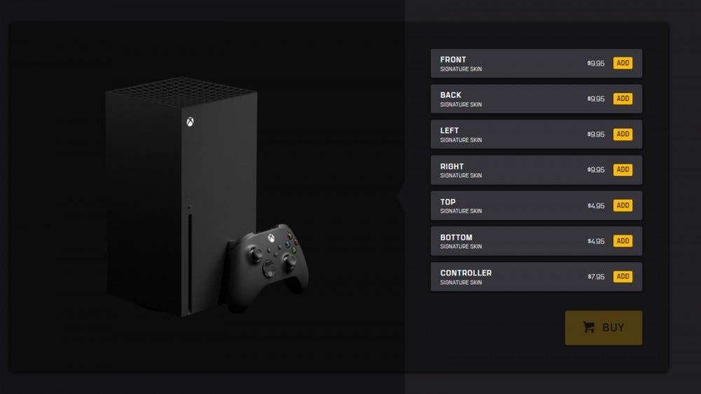 dbrand Xbox Series X Skin Configurator