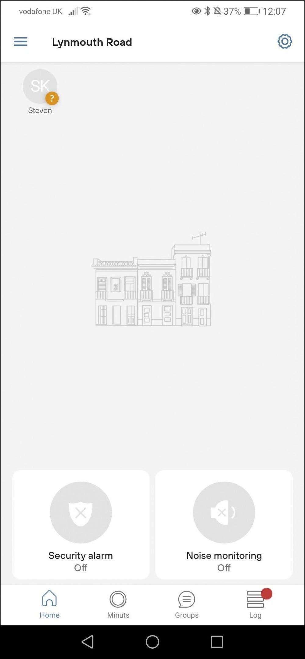 minut app home screen