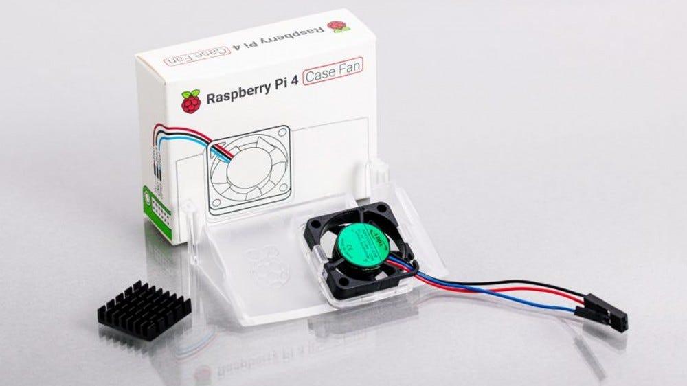 A photo of the Pi 4 case fan.