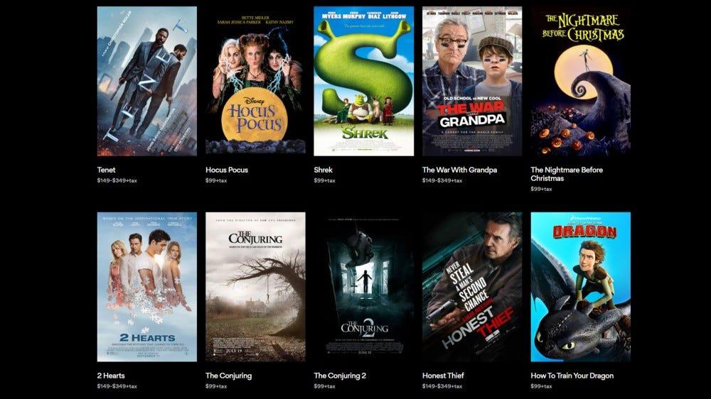 List of AMC private movie screenings