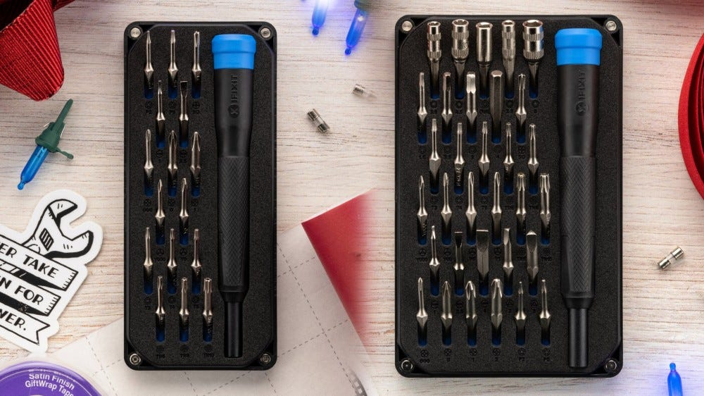 iFixit tool sets for moray eels and minnow