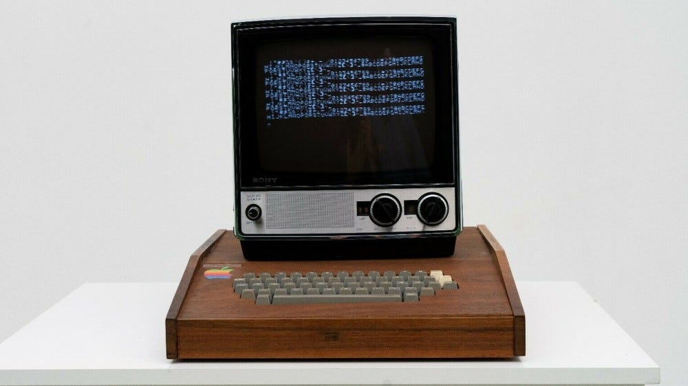 Apple 1 with Sony monitor