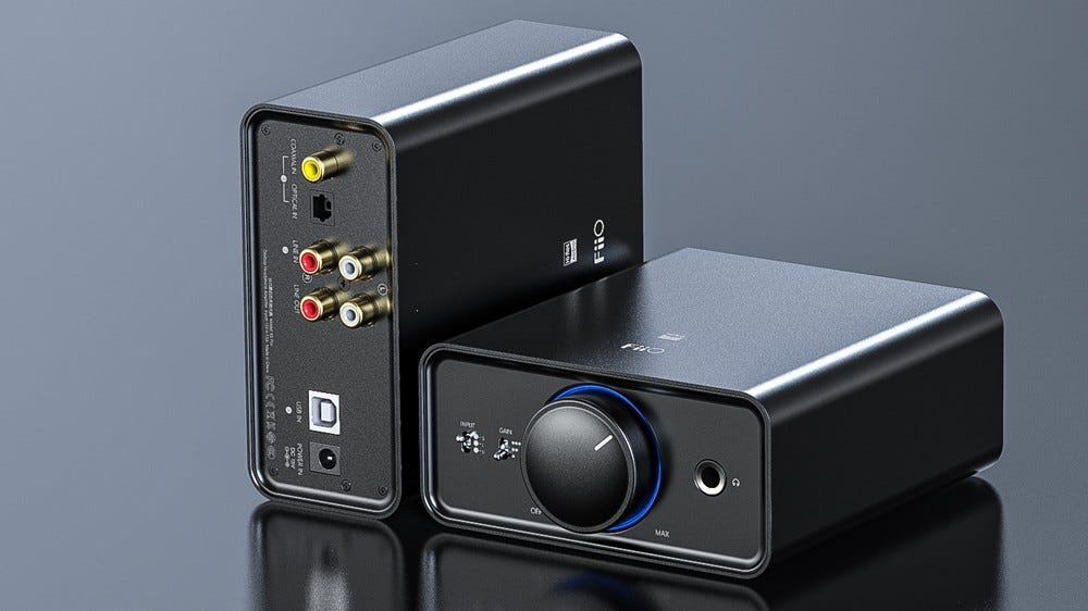 The FiiO K5 Pro with USB and analog connectivity.