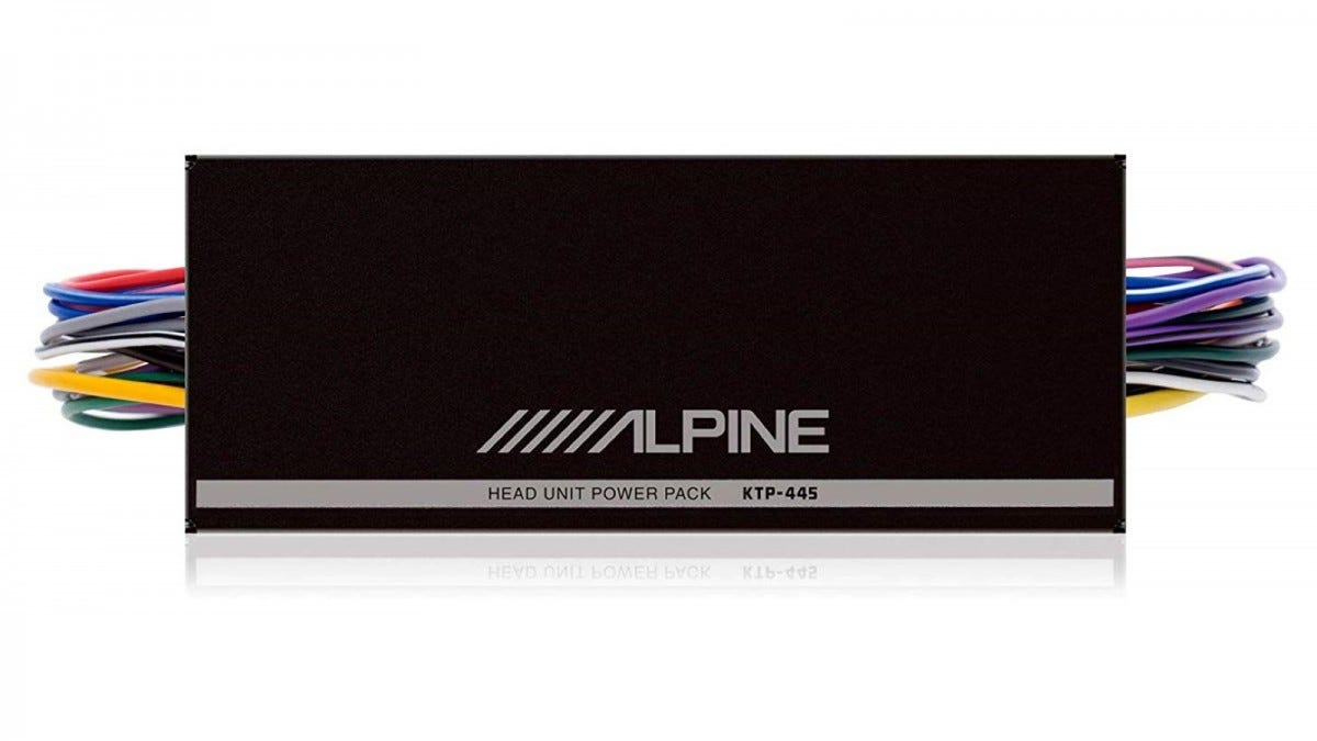 The Alpine KTP-445U Mini-Amplifier.