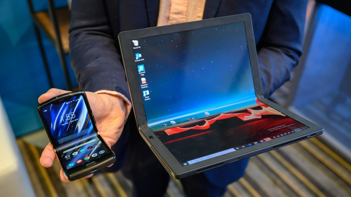 The Motorola Razr and Lenovo ThinkPad X1 Fold