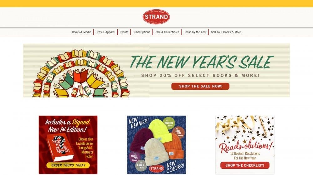 A Strand, egy hatalmas könyvesbolt, amely hajlandó aláírni az előrendeléseket és a ritka címeket