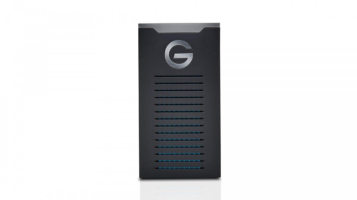 The G-Technology G-DRIVE portable SSD.