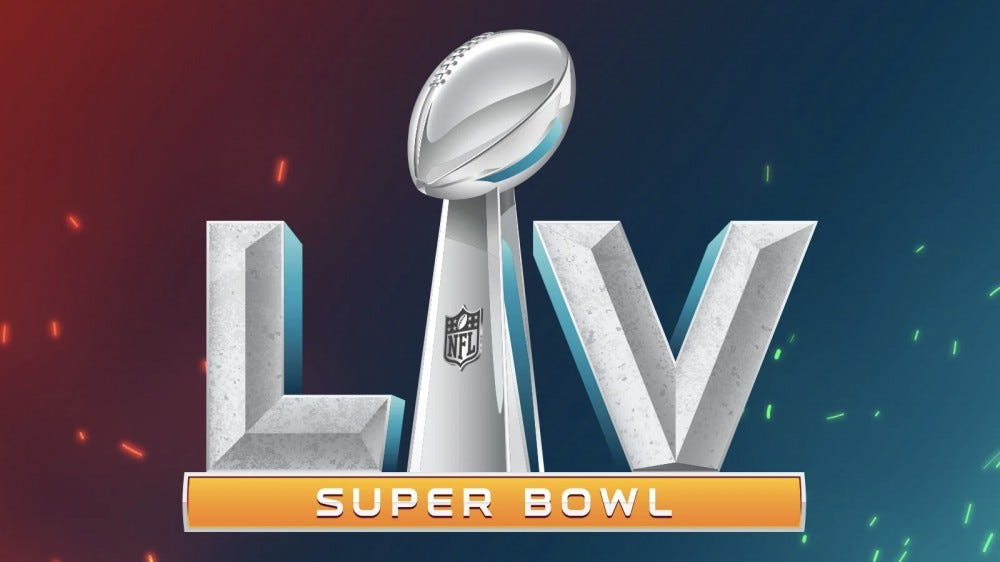 The Super Bowl LV logo.