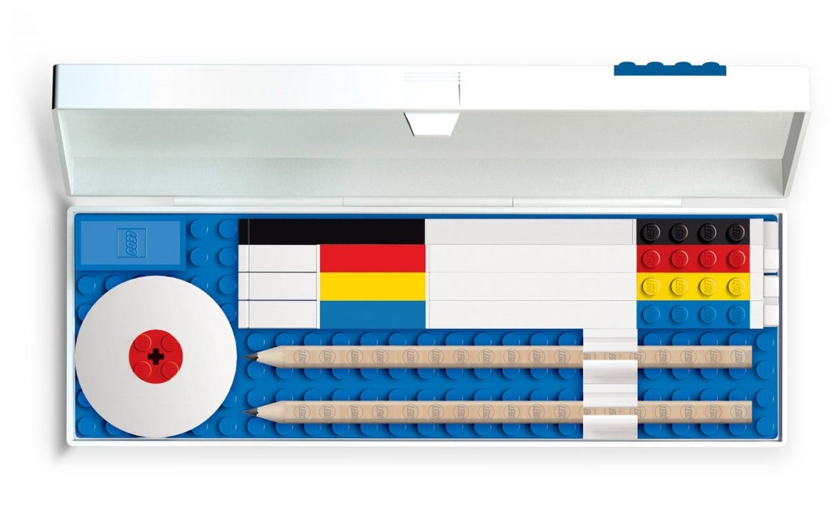 This themed pencil case and stationary set is a fun way to stay organized.